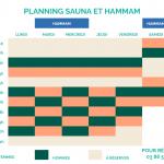 Planning Sauna Hammam